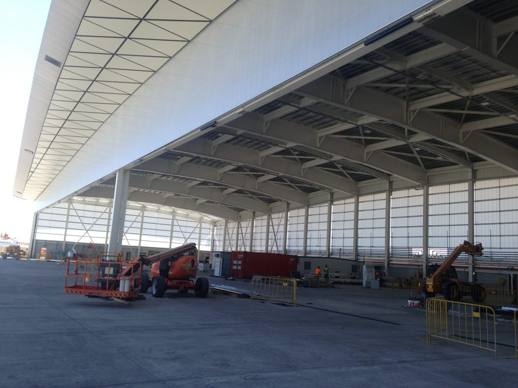 jet base 326 1024x768 - Melbourne Jet Base Takes Off With Custom Roofing and Cladding Products