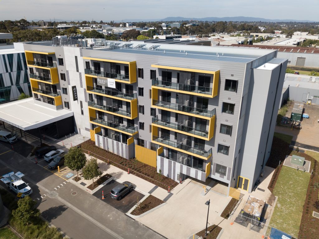 QUEST receives an exceptional facade with COLORBOND® steel