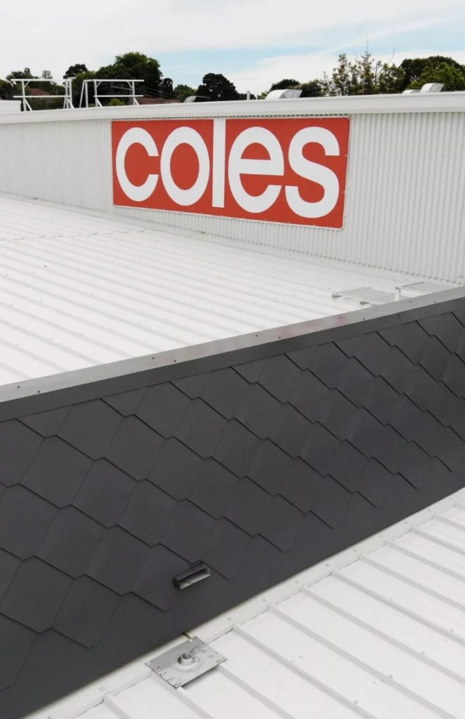 COLES receives an impressive finish with our  Metal Shingle Cladding    Architectural Cladding Suppliers 1 663x1024 - Projects