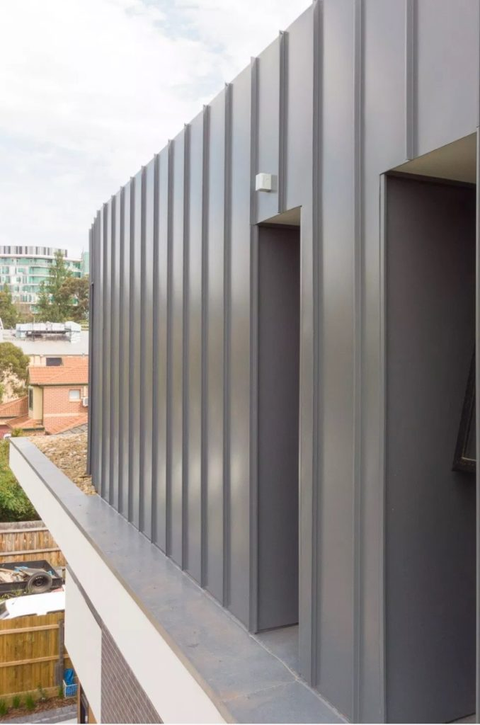 COLORBOND® steel Basalt® perfectly matched with Standing Seam   Architectural Cladding Suppliers 678x1024 - Projects