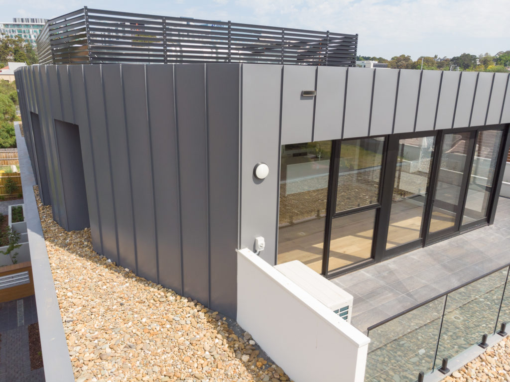 , COLORBOND® steel Basalt® Is Perfectly Matched With Standing Seam Metal Cladding