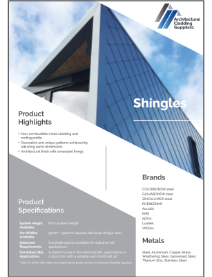 Shingles Data Sheet