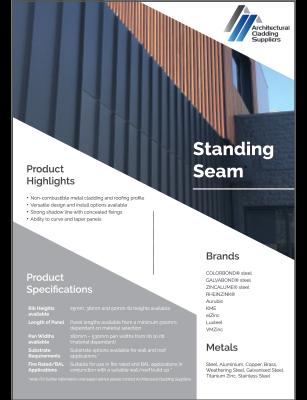 Standing Seam brochure
