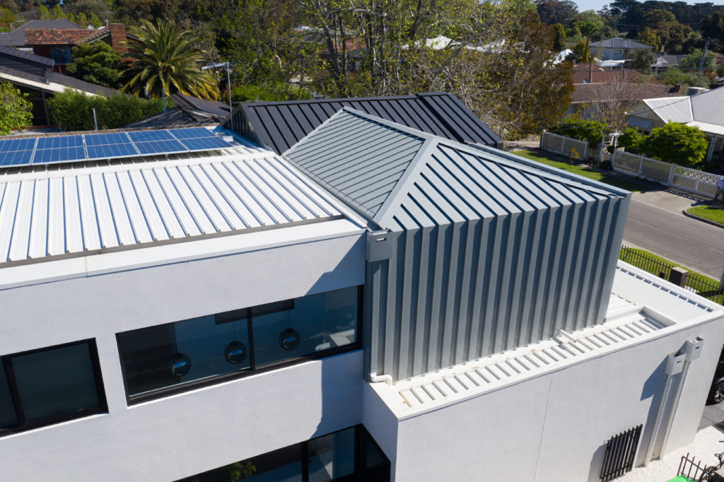, The Simplicity Of Standing Seam Metal Cladding Gives A Fresh And Clean Look