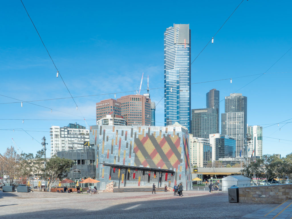 , Fed Square Digital Facade Project Using Rheinzink® Mill Finish Flatlock