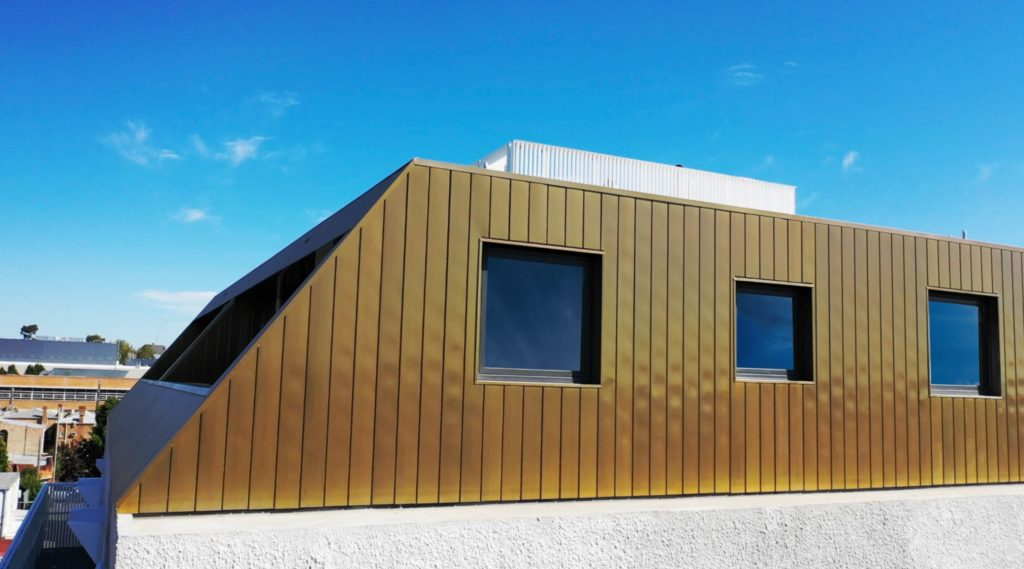 , Brass Interlocking Metal Cladding Panels Never Looked So Good!