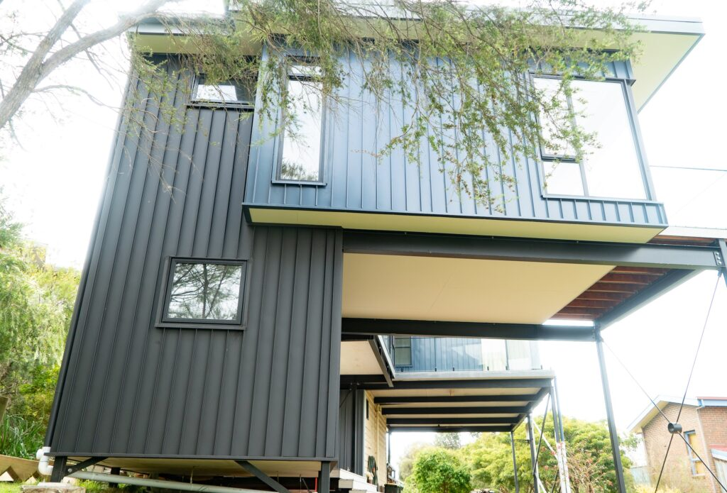 , A Very Cool Finish In Shoreham With Snaplock Metal Cladding!