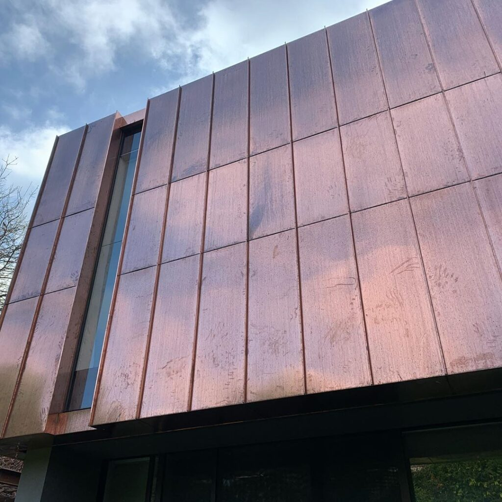 , Copper Standing Seam Metal Cladding delivers an architectural wonder!